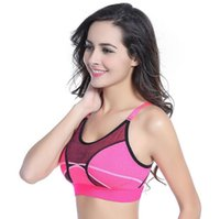 Wholesale Womens Athletic Vests - Eco-Friendly Feature Wireless breathable Sexy Womens Ladies Seamless Padded Bra Athletic Vest Gym Fitness yoga Bras