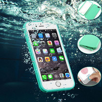 Wholesale Iphone Leather Case Screen - 100% Sealed Waterproof Cases Water Resistant Full Body Screen Protector Soft TPU Gel Front & Back Case For iPhone 5 6 6s 7 plus