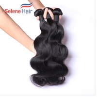 Wholesale Natrual Wave - 60% Off 8A Unprocessed Peruvian Natrual Color Body Wave Virgin Human Hair Extension Bundles Weave Can Dyed Double Weft Very Strong