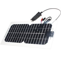 mp5 zum verkauf großhandel-Heißer Verkauf 5.5W 18V halbflexible transparente monokristalline Silizium Sonnenkollektor Solarzelle Sun Engergy Power + 2 Clips + USB-Ladegerät