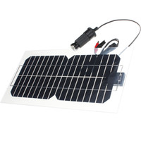 células de painel solar monocristalino venda por atacado-Venda quente 5.5 W 18 V Semi-Flexível Transparente Monocrystalline Silicon Painel Solar de Energia Solar Sol Engergy Poder + 2 Clipes + Carregador USB
