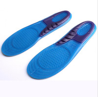 Wholesale Orthopedic Silicone Insole - 4000Pcs Silicone Gel Insoles Man Women Insoles Orthopedic Massaging Shoe Inserts Shock Absorption Shoepad High Quality