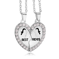 Wholesale Penguin Loves - 2016 New Design BFF Pendant Necklace Friendship Best Friends Forever Necklaces Penguin Anchor Wholesale for best friend ZJ-0903711