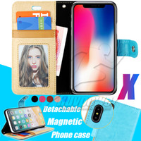 Wholesale Galaxy Pocket Back Case - Wallet Case For Iphone X 10 8 7 6S Samsung Galaxy Note 8 S8 Plus Retro PU Leather Cases Back Cover Pouch