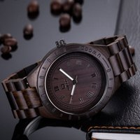 Wholesale Miyota Quartz - 2017 New Natural Black Sandal Wood Analog Watch UWOOD Japan MIYOTA Quartz Movement Wooden Watches Dress Wristwatch For Unisex