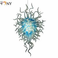 Wholesale 24 Inch Bead Chain - Free Shipping 110v 120v 220v 240v Medium Size Amber Art Glass Crystal Beads Murano Chandelier Lighting