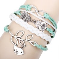 Wholesale Infinity Rudder Anchor Charm Bracelets - DIY Infinity Charm Bracelets Antique Cross Bracelets Hot sale styles fashion Leather Bracelets anchor boat rudder of Life Jewelry