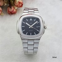 Wholesale Geneva Chronograph Watches - Luxury Geneva Brand Stainless Steel Strap Men Watches Vintage quartz PP Watch Moon Phase Casual Nautilus Watch