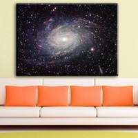 imagens de canvas landscaped floral venda por atacado-ZZ1772 Galaxy Espaço Estrelas Nebulosa Da Arte Da Lona Cartaz Impressão Universo Paisagem Fotos de Decoração Para Casa decoração da parede da arte imprime