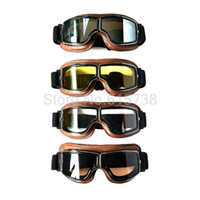 4 couleurs Lenese UV protction Objectif pilote Motocrosss MX Goggles Riding Helmet Cross Country Grimpez Goggle Motorcycle Racing Lunettes