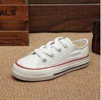 Wholesale Shoes Cute Tops - kids shoes Boy&girl Children's Canvas Shoes kids Cute Leisure Sports Shoes low & high top Rubber Bottom 5 colors size 24-34