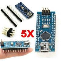 ingrosso pilota arduino-5Pcs MINI USB CH340G Nano V3.0 16 M 5 V ATmega328P Micro-Controller Scheda Arduino driver USB NESSUN CAVO