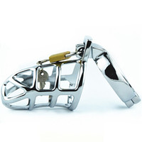Wholesale Top Toys Penis - Top Sale Stainless Steel Male Chastity Cages Adult Toys Cock Cage Metal Penis Rings Sex Product Virginity Lock Chastity Device FE0022