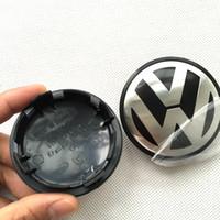 Wholesale Hub 65mm - 200pcs lot 65mm Car Wheel Cover Badge Wheel Hub VW Center Caps Emblem For VW 2010 TOUARET