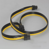 Wholesale Dual Module - Wholesale- Module 6Pin to Dual PCI-E PCIe 8Pin + 8Pin ( 6+2Pin ) Power Ribbon Cable Cord 50cm for Thermaltake Tt 650 W0163 PSU Power Supply