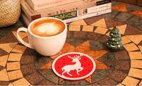 ingrosso angeli tessono-Tappeto isolante tappetino natalizio Angelo alce pupazzo di neve modello ecc multicolor sottobicchiere Decorazioni in tessuto non tessuto