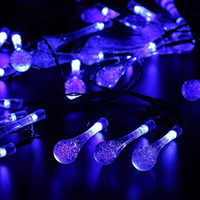 2016 new arrival 30 led battery powered raindrop fairy string light outdoor xmas wedding garden party decor del_106 - Raindrop Christmas Lights