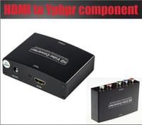 hdmi ypbpr convertidor al por mayor-Envío gratis 1pcs HDMI a Componente YPbPr + R / L CONVERTIDOR AV ENTRADA HDMI Y SALIDA DE COMPONENTE CON ADAPTADOR DE ALIMENTACIÓN