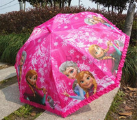 Wholesale Hot Sale Fashion Cute Cartoon Frozen Umbrella Rain and Sun Proof Frozen Princess Elsa Anna Olaf Children Umbrella cm Frozen Series OEM