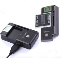 Wholesale home cellphone for sale - Universal LCD Screen USB AC Phone Battery Li ion Home Wall Dock Travel Charger Samsung Galaxy S3 S4 S5 Note Nokia Huawei Cellphone