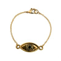 Antique Gold Color Crystal Eye Design Pulseira Para Mulheres Jóias Elegante Chic Acessórios Chain Link Bracelet For Gifts