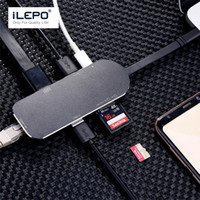 Купить Usb Слот Для Карты Sd Концентратор-TYPE-C 5 in 1 type c Hub USB 3.0 Слот-карта TF SD Card Reader с зарядным портом Universal для Macbook Projector