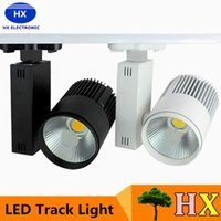 Wholesale Super bright W COB Led Track Light TrackLight High Power Spotlight for Shop Clothing store track Spot Lighting High Bright