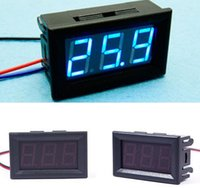 Wholesale Led Display Panel Dc Voltage - Hot 1piece DC 0-30V Blue LED 3-Digital Display Voltage Voltmeter Panel Motorcycle good quality low price