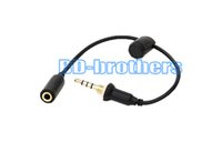 Wholesale Iphone4 Aux - Waterproof Cover Case Headphone Adapter Plug Replacement Cable 3.5mm Female to Male Cables with Seal Cap for iPhone4 5 6 Earphone