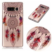 Dreamcatcher Soft TPU Case para Galaxy Note 8, S8 Plus S7 (A5 A3 J7 J5 J3) 2017 Owl Lace Flower Panda Cartoon Feather Cute Dog Elephant Cover