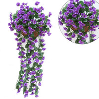 Wholesale cheap fake flowers for weddings - wholesale 1pcs Artificial Flowers for Wedding Decoration Cheap Silk Artificial Flowers Home Garland Fake Hanging Plants Party Supplies