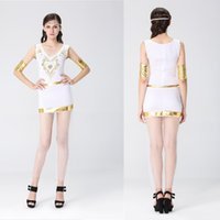 Wholesale Women Cleopatra Costume - Halloween Greek goddess role-playing ancient Egyptian queen cleopatra costumes Club theme party stage role-playing stage performance