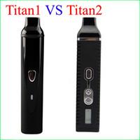 Wholesale Electronic Cigarettes Displaying - Titan 1 VS Titan 2 Dry Herb Vaporizer Titan2 Hebe Kit Electronic Cigarette Tempreture Control LCD Display 2200mah Battery