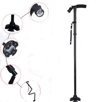 Wholesale Hiking Walking Stick Dependable Folded Cane with Light WalkingStick