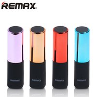 Wholesale Lipstick Portable Chargers - Original REMAX Lipstick Power Bank 2400mAh Portable Charger Powerbank External Battery Charger for Smart Phones with retail box