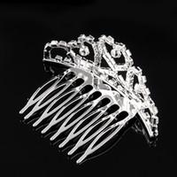 haare tuck kamm großhandel-Mini Twinkle Strass Diamante Braut Prinzessin Crown Haar Kamm Haarspange Tuck Tiara Ball Party Hochzeit