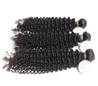 Wholesale hair color without chemicals resale online - 8A Indian Human Hair Kinky Curly Hair Weave Without Chemical Processed Natural Color Dyeable inch In Stock