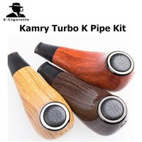 Wholesale K Cigarettes - 100% Authentic Kamry Turbo K E Pipe Vape Electronic Cigarette Hookah kit 1100mAh 0.5ohm 3.3-4.2V Wooden Vapor Mods 2209025