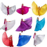 Wholesale Egyptian Wings - Children Angle Wings Belly Dance Wings Egyptian Belly Dancing Costume Isis Wings Dance Wear for Kids Girls (no stick) 9 colors