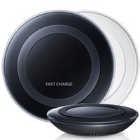 Wholesale Blackberry Fan - Black White Samsung Qi Wireless Charger QUICK FAST Pad Palte for Galaxy Note 5 S7 S6 Edge Plus Fan Retail Package