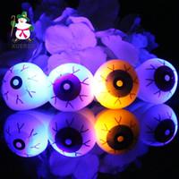 Wholesale Rings For Fingers - New LED Finger Rings for children Creative Halloween rings terror eyes flash luminous rings free shipping