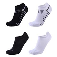 Wholesale sock slippers men for sale - Fashion Cotton Men s basketball Socks Male Spring Summer Low Cut sport Socks Men short socks boat sock Ankle Calcetines Ciclismo