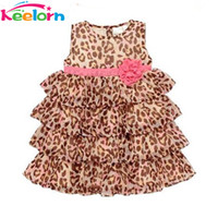 Wholesale Leopard Print Beach Dress - Wholesale- Keelorn baby girl clothes 2017 New Fashion baby girl's leopard print dress cute Children's dresses Children's clothing