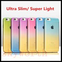 Wholesale Galaxy Change - Color Change Gradual Rainbow Soft TPU Cases Cover for iPhone 6 6S Plus 5 5SE Samsung Galaxy S5 S6 S7 Edge Note 7