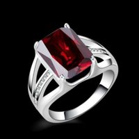 Wholesale Gem Square Ring - Hot Fashion Luxury Multicolor Square Gem Ring Wedding Ring WH