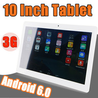 Wholesale Android Tablet 16g - 10 Inch Tablet Pc phone Call Quad Core Tablets Phablet 3G Phone Calling Android 6.0 1g 16g GPS WIFI with Dual sim card slots Camera