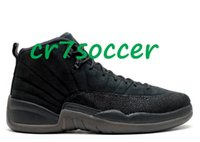 Wholesale Athletic Footwear Sports Shoes - wholesale retro 12 OVO black Basketball shoes men 12 retro XII 12s flu game sports footwear wings Athletic sneakers the master free shipping
