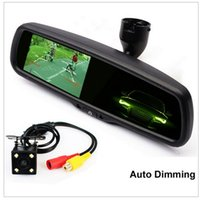 Wholesale Special Car Ccd - Special Bracket Auto Dimming Interior Mirror 4.3 Inch Car Parking Monitor With Night Vision CCD Rear View Camera