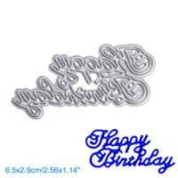 Wholesale happy birthday metal - Happy Birthday A DIY Metal Cutting Dies Stencil Scrapbook Card Album Paper Embossing Crafts
