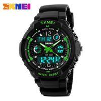 Wholesale Men S Divers Watch - 2016 New SKMEI Luxury Brand Men Military Sports Watches Analog Digital S SHOCK LED Quartz Wristwatches rubber relogio masculino